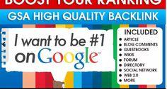 Boost google ranking FAST with 200 high DA backlinks