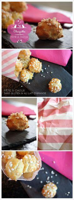 Pâte à choux sans gluten et au lait d'amande.   http://www.reglisse-et-marmelade.fr  ©reglisseetmarmelade2013