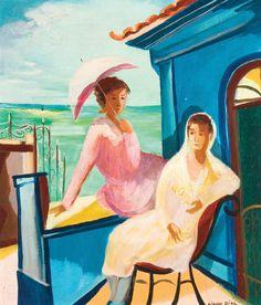 The terrace - Oil on Canvas - Cicero Dias.
