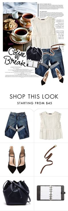 """Coffee break"" by sinsnottragedies ❤ liked on Polyvore featuring Sandro, Violeta by Mango, Madewell, Lacoste, Mulberry, Summer, summerstyle, polyvoreeditorial and polyvorefashion"