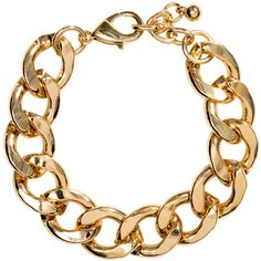 H&M Bracelet ($3.08) ❤ liked on Polyvore featuring jewelry, bracelets, accessories, h&m, necklaces, gold, bracelet bangle, steel jewelry, adjustable bangle and chain bracelet