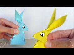 Como hacer un conejo de papel facil - YouTube