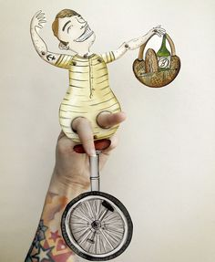 Paper puppet. by Paul Palooza craft book