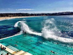 Home - Bondi Beach Sydney Australia. Pool at Iceberg's on the hill overlooking Bondi! Places Around The World, Oh The Places You'll Go, Places To Travel, Places To Visit, Around The Worlds, Visit Australia, Australia Travel, Australia Beach, Hello Australia