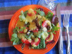 Roasted Mango Salad Dressing. So lite, fresh, different!