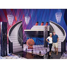 Our Ship of Dreams Decorating Kit will transform your party into a ballroom on a elegant cruise ship.