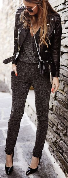 Dark grey jumpsuit +
