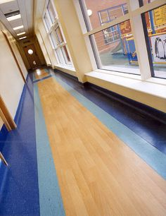 Altro Chrysalis & Timbersafe installed in an educational setting. - www.altro.com