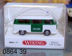"0864 39 Wiking Modellauto ""Polizei VW Bus T2"" TOPZUSTAND in OVP"