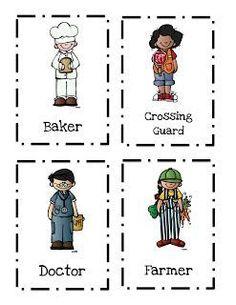 Preschool Printables: Community Helpers Printable 2