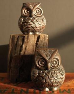 owl paperweights $28 for 2 - for the study in my library in my dream home.