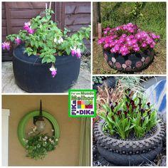 Fika a Dika - Por um Mundo Melhor: Reciclagem de Pneu na Jardinagem.