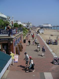 The Promenade, Eastbourne, East Sussex, United Kingdom, I lived here. I could see the see from my kitchen window! Seaside Resort, Seaside Towns, Great Places, Places To Visit, Portsmouth England, Uk Beaches, Scotland Tours, Places In England, Italy Tours