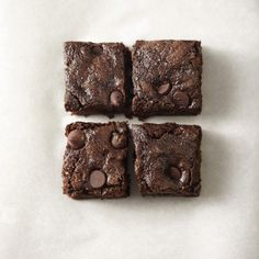 Whole-Wheat Dark Chocolate Zucchini Brownies