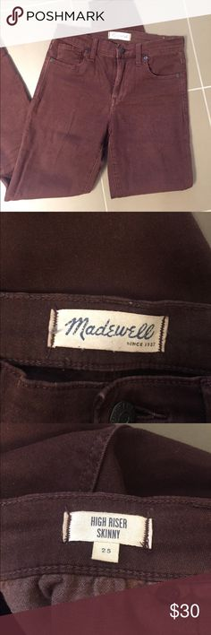 "Madewell 9"" high riser skinny Cabernet skinny jean. Size 25. Super stretchy and comfortable. Madewell 9"" high riser. Madewell Jeans Skinny"