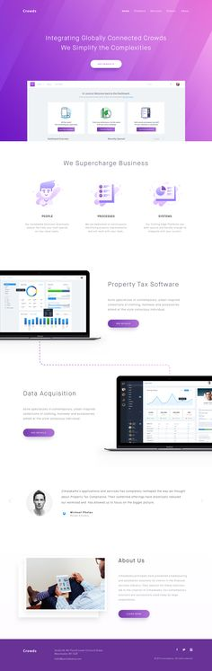 Property tax and data acquisition landing page