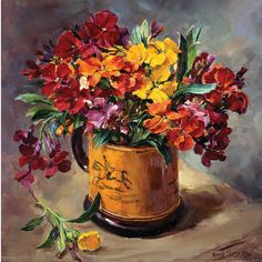 Wallflowers | Mill House Fine Art – Publishers of Anne Cotterill Flower Art