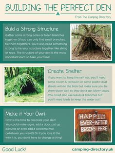 Learn how to build your very own #den with our top tips! #Green #Outdoors #Nature #Camping #Campsite #UK
