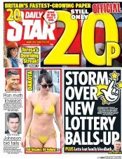 Daily Star (UK) Newspaper Front Page for 13 July 2016