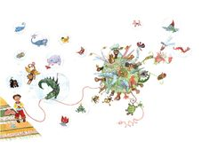 Colorhood - Hans' Machines by Cristiana Radu Illuminated Manuscript, Her Style, Art Nouveau, Fine Art Prints, Japanese, Drawings, Illustrations, Christians, Japanese Language