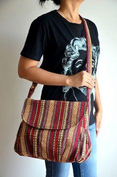 Women Hippie Messenger Bag Handbags Nepali Woven Bag by Dollypun