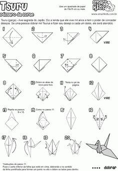 Borboletas Azuis : Móbile de origami tsuru