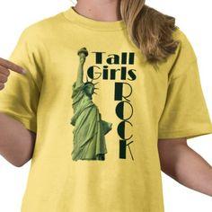 Fun tee for tall girls!