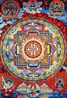 Commission authentic Thangka paintings, Tibetan mandalas, Himalayan masks, Hindu and Buddhist works of art created by the artists of a lovely community in Nepal Tibetan Mandala, Tibetan Art, Tibetan Buddhism, Thangka Painting, Mandala Painting, Mandala Art, Chakra Healing Music, Chakra Meditation, Reiki Chakra