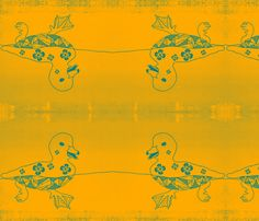 daisy duck fabric by nascustomwallcoverings on Spoonflower - custom fabric