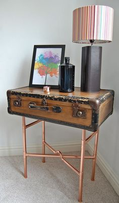 50+ Vintage Suitcase End Table - Modern Classic Furniture Check more at http://www.nikkitsfun.com/vintage-suitcase-end-table/