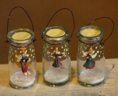 Like us on Facebook!  www.facebook.com/AllysonsPlaceDecor / Milk Jar Ornament - Angel /  Holiday Decor / Prmitive Decor / Country Decor / Primify Christmas Tree