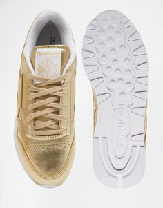 new product f2f66 f7422 Image 3 of Reebok Classic Gold Leather Spirit Sneakers Sko Sneakers, Asos