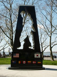 New York, USA. A memorial to those lost in the Korean war.  A soldier's silhouette is seen, but inside it we can see only space. The person that was that soldier is gone, but somehow they remain - they have left a lasting impression.We may not be able to see them, but in our hearts they live on.