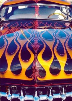 Hot Rod flames and pin striping.. Re-pin Brought to you by  #HouseofInsurance in #EugeneOregon for #LowCostInsurance