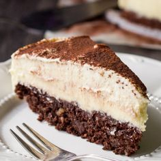 This chocolate cheesecake recipe has a simple brownie bottom and a cheesecake top.  You need to let this sit in the refrigerator for at least 4 hours before you eat it so plan to make early in the morning or the day ahead of when you will want it.