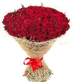 Bellissimo Mazzo di 100 rose rosse, per regalare un