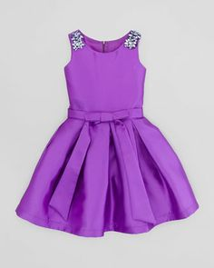 Jewel-Adorned Party Dress, Violet by Zoe at Neiman Marcus.
