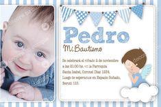 Resultado de imagen para tarjetas para bautismo de varon