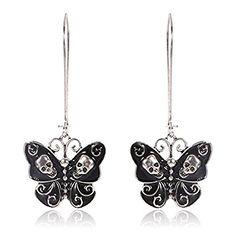 Butterfly Skull Dangle Earrings – Cherry's Rockabilly