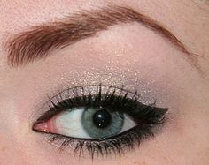 One all over eyeshadow color & winged eyeliner.