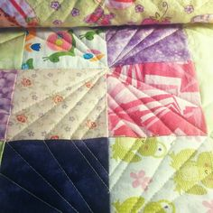 Sew Darn Cute - what a cool way to add a little zip to simple quilt blocks!