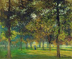 The Allee du Champ de Foire at Argenteuil via Claude Monet