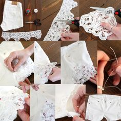 #diy lace shorts for #summer | Tumblr