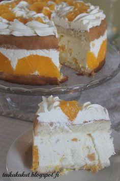Moikka! Mulla alkoi yksi päivä tekemään hirveästi mieli raikasta appelsiinicharlottaa enkä saanut kiusausta mielestäni. Kun sitten ystäv... Gluten Free Recipes, Baking Recipes, Dessert Recipes, Desserts, Finnish Recipes, Let Them Eat Cake, Cheesecakes, Yummy Cakes, No Bake Cake
