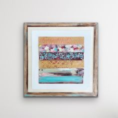 Watercolor Landscape Paintings, Landscape Art, Abstract Flower Art, Reclaimed Wood Art, Square Art, Wood Wall Art, Painting On Wood, Framed Art, Original Paintings