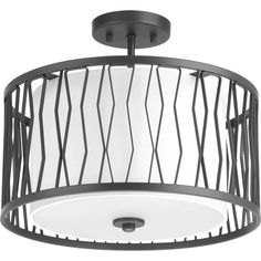 Appreciate handcraftsmanship and organic modern forms in Wemberly. The Graphite frame is hand crafted and softened with a white linen shade with an etched glass diffuser. This semi-flush convertible fixture is part of our Design Series collections. Led Flush Mount, Flush Mount Lighting, Flush Mount Ceiling, Ceiling Light Design, Ceiling Lights, Sloped Ceiling, Modern Lighting Design, Hallway Lighting, Progress Lighting