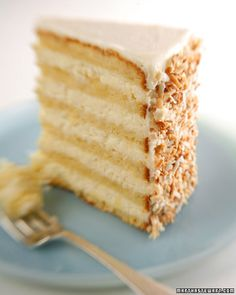 the world's best coconut cake - we got married at the Peninsula Grill and our wedding cake was this legendary coconut cake, to die for. Our wedding guests were calling the restaurant for 2 weeks after the wedding asking for the recipe