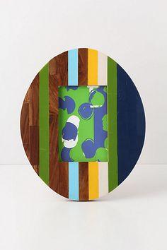 Oval Inset Stripes Frame - Anthropologie.com
