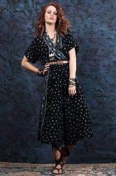 1990's Be Square Crop Jumpsuit S/M - Vintage 90s Palazzo Crop Capri Boho Hippie Airy Gypsy Festival V Jumpsuit S/M