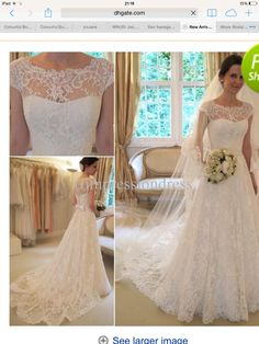 Wholesale Wedding Dress - Buy New Arrival Glamorous Full High Quality Lace Appliqued Bateau Neck Cap Sleeves A-line Wedding Dresses Bridal Gowns Lace Wedding Dress, Bridal Dresses, Wedding Gowns, Dresses Uk, Bridesmaid Dresses, Dress Lace, Party Dresses, Wedding Wishes, Wedding Bells